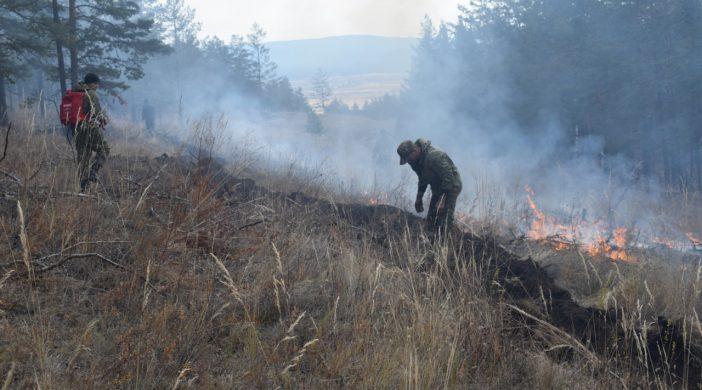 В Бурятии идут профилактические противопожарные работы